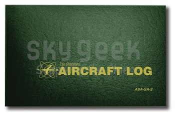 Aviation Supplies & Academics ASA-SA-2 Green Hard Cover Aircraft Logbook