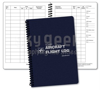 Aviation Supplies & Academics ASA-SP-FLT-2 Blue Softcover Aircraft Flight Log
