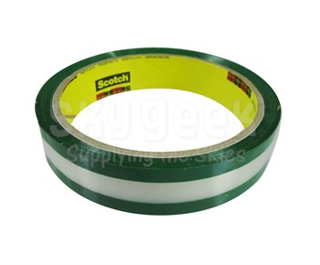 """3M™ 021200-03507 Transparent with Green Adhesive 685 1.7 Mil Riveters Tape - 3/4"""" x 36 yd Roll"""