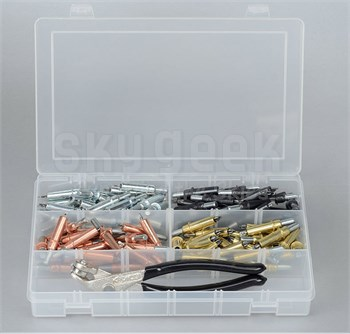 California Associated CL50K Plier Operated Cleco Temporary Fastener - 50-Piece Kit