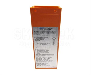 Aviall BS2166 FAA-PMA Narco ELT-10 Alkaline 121.5 ELT Replacement Battery Pack - 2 Year