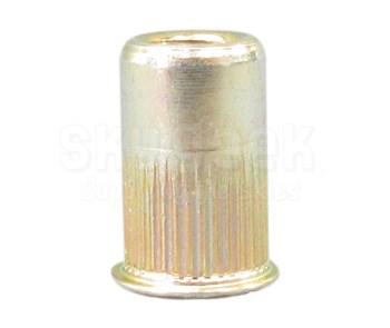 AVK AKS4-832-80 Yellow Zinc Steel 8-32 (.020-.080 Grip) Knurled Threaded Insert