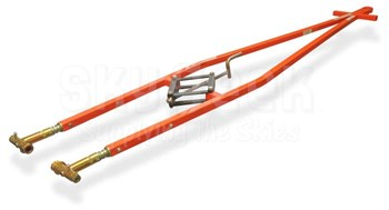 Brackett Aircraft Company TH-6R Orange 4,000 lbs. Capacity Universal Towbar Assembly with Ring Hitch