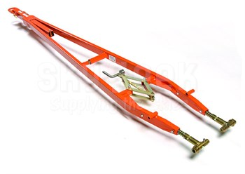 Brackett Aircraft Company TR-34R Orange 14,000 lbs. Capacity Universal Towbar Assembly with Ring Hitch