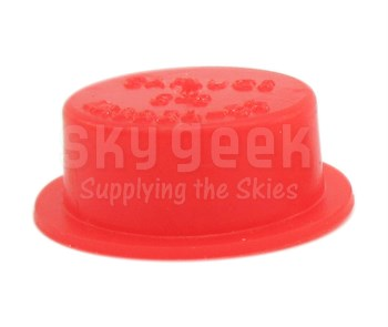 "Caplug T-5S Red .533"" Tapered Dust & Moisture Cap"