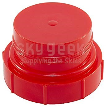 Caplugs PDO-112 Red 1 1/16-12 Plastic Threaded Plugs for SAE O-Ring Ports