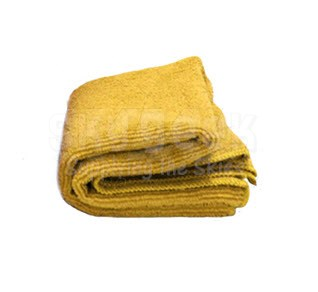 "Celeste® SPS-1616YW1 Yellow 16"" x 16"" 70% Polyester-30% Polyamide Microfiber Cloth Towel - 48 Towel/Case"