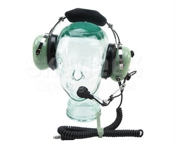 b5a640bbd9f David Clark 18283G-03 Model H10-66 Over-the-Head 5-Foot Coil Cord Dual  Impedance Military Headset at SkyGeek.com
