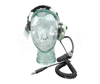 David Clark 40523G-01 Over-the-Head Single-Ear 5' Coil Cord U-174/U Connector Military UAV Headset