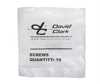 David Clark 40688G-14 Screws (10/Package) 09555P-20