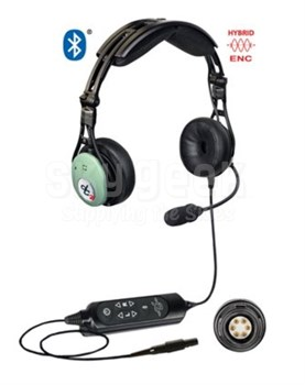 David Clark 43105G-02 Model DC PRO-X2 Bluetooth® Hybrid ENC Stereo/Mono 7' Straight Cord 6-pin Panel Mount Aircraft Headset