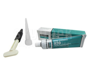 Dow Corning 839 Blue Silicone Adhesive-Sealant - 90 mL Tube