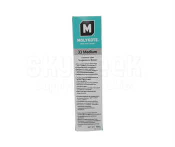 Dow Corning Molykote® 33 Off-White Medium Extreme Low Temperature Bearing Grease - 150 Gram Tube