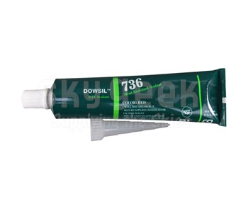 DOW® 2423472 DOWSIL™ 736 Red Heat Resistant Sealant - 90 mL (3 oz) Tube
