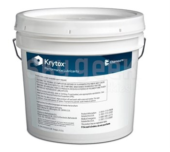 Chemours™ Krytox™ GPL 205 White PTFE Thickened Standard General-Purpose Grease - 5 Kg Pail