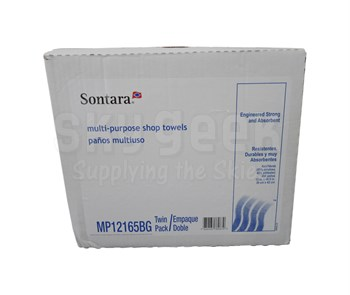 """DuPont MP12165BG Sontara Smooth Shop Towels - Blue/Green - 12"""" x 16.5"""" - 250 Count Twin Pack"""