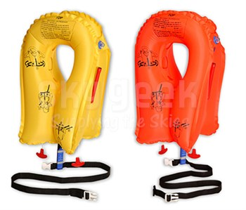 EAM Worldwide P01074-111W Yellow XF-35 Twin-Cell Life Vest with Whistle