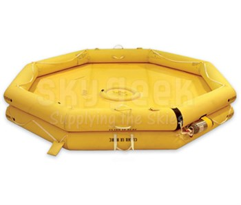 EAM Worldwide R1700-103 Red/Yellow T7AS-VIP Twin Tube 7-Man Corporate Helicopter Life Raft