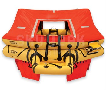 EAM Worldwide T11AS Life Raft 11 Man - Twin-Tube - FAR 135 / JAR - R1570-119