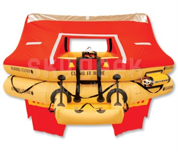 EAM Worldwide T14AS Life Raft 14 Man - Twin Tube - JAR OPS/FAR 121 - R1400-111