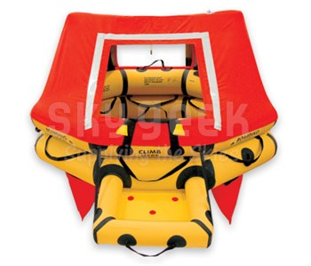 EAM Worldwide R0101A104 Yellow T4 Single Tube Type 2 4-Man FAR 121 Aviation Life Raft