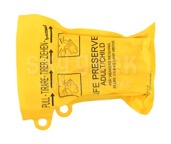 EAM Worldwide P01074-201 Yellow XF-35 Twin-Cell Life Vest