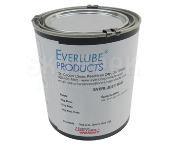 Everlube® 9002 Gray/Black MIL-PRF-46010H Spec Water Based Mos2 Solid Film Lubricant - Quart Can