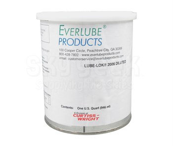 Everlube® Lube-Lok® 2006 Diluted Matte Gray Everlube® Standard Spec Thermally Cured MoS2/Graphite Solid Film Lubricant - Quart Can