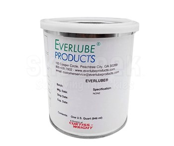 Everlube® 732 Gray/Black Commercial Grade Thermally Cured MoS2/Graphite Solid Film Lubricant - Quart Can