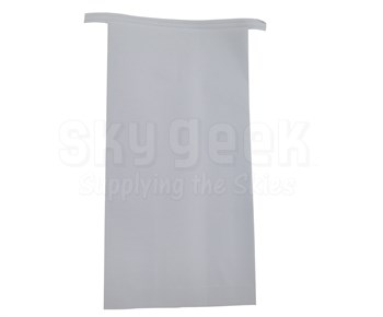 Extra Packaging Wax Lined Paper Pinch-Bottom White Air Sick Bags with Horizontal Tin Ties