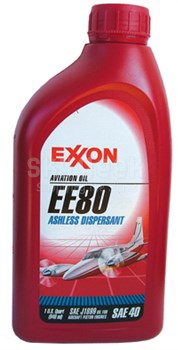 Exxon Mobil EE 80 Ashless Dispersant Aviation Piston Oil - Quart (948 mL) Bottle