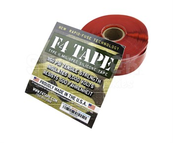 "Harbor Products F4 Red Self-Fusing Silicone Tape - 1"" Wide x .020"" Thick x 36' Long Roll"