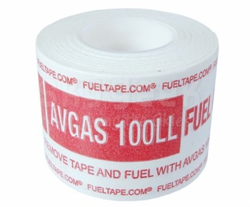 """Fuel Tape """"AVGAS 100LL Fuel Only"""" Indicator Tape - Red Print"""