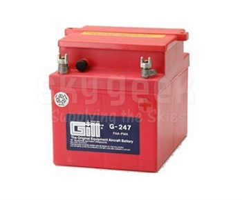 Gill G-247 Aircraft Battery without Acid