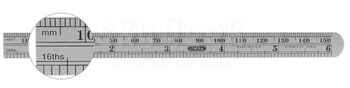 General Tools 305ME Precision Economy Flexible Steel Rulers