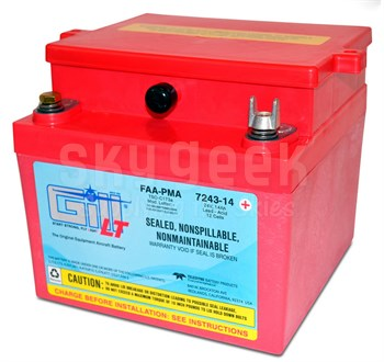 Gill 7243-14 Sealed Lead Acid Aircraft Battery