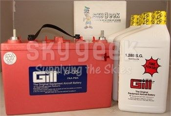 Gill G-35 Aircraft Battery with Acid