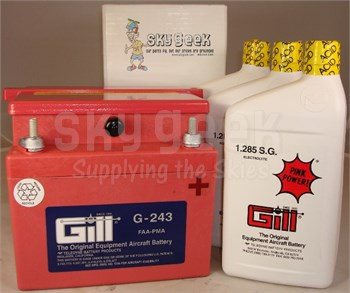 Gill G-243 Aircraft Battery with Acid