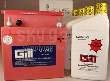 Gill G-247 Aircraft Battery with Acid