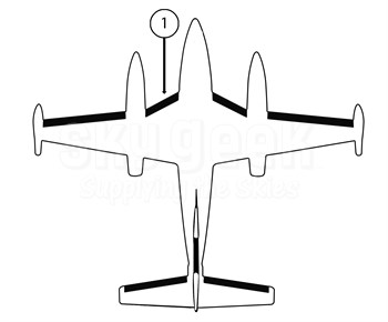 Goodrich P25S7D5095-09 FASTboot® Piper PA42 & PA42-1000 LH Fuselage - Nacelle De-Ice Boot