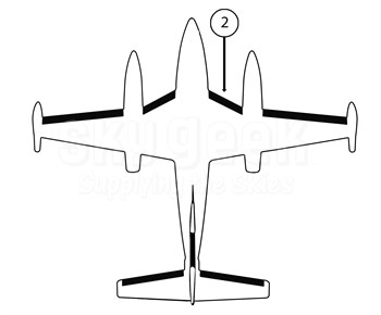 Goodrich P25S7D5095-10 FASTboot® Piper PA42 & PA42-1000 RH Fuselage - Nacelle De-Ice Boot
