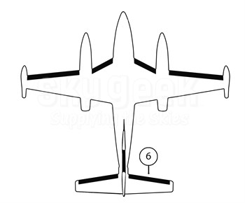 Goodrich P25S7D5095-14 FASTboot® Piper PA42 & PA42-1000 RH Horizontal Stabilizer De-Ice Boot