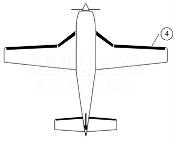 Goodrich P27-7D5164-10 FASTboot® Piper PA46-310P & PA46-350P RH Wing De-Ice Boot