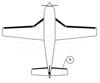 Goodrich P27S7D5164-06 FASTboot® Piper PA46-310P & PA46-350P RH Horizontal Stabilizer De-Ice Boot