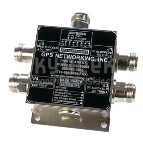 GPS Networking ALDCBS1X4 N-Type Connector Amplified GPS Splitter