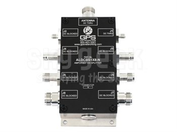 GPS Networking NHIALDCBS1X8-T/5/MC 5-Volt DC Out TNC Female & Military Connector Amplified 1X8 GPS Splitter