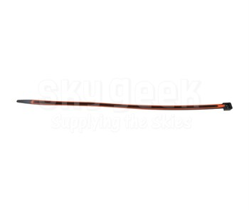 "GripLockTies™ GLT2912BKOGHB15 Black Nylon 12.35"" Orange Rubber Lined Zip Ties™ - 15 Each/Pack"