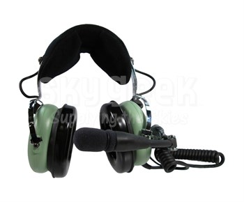 David Clark H10-13HXP Permanent Panel Power Module Electronic Noise-Cancelling Helicopter Headset