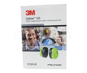 3M™ H10A HV PELTOR™ Optime™ 105 Hi-Viz Green/Black 30 db Over-the-Head Earmuffs