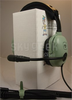 f9100980d48 David Clark 40495G-02 Model H20-16 Stereo Coil Cord Light-Weight Helicopter  Headset at SkyGeek.com